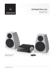 US Retail Price List - meridian-audio[.info]