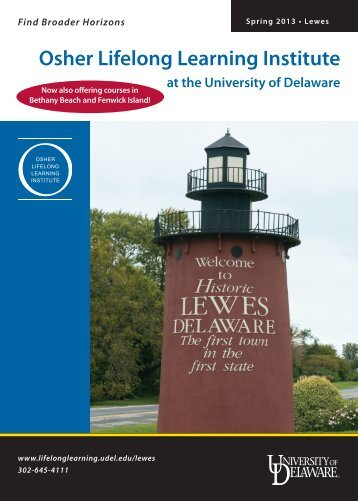 Download the Spring 2013 catalog - Osher Lifelong Learning ...