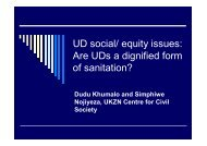UD social/ equity issues: Are UDs a dignified form of sanitation?