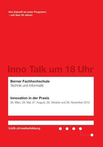Berner Fachhochschule Technik und Informatik ... - innoBE AG