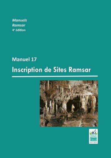 Inscription de Sites Ramsar Cadre stratégique et lignes directrices ...