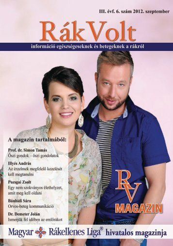 Rák Volt magazin legutóbbi számában - Daganatok