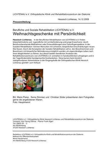 Berufliche und Soziale Rehabilitation LICHTENAU e.V. ...