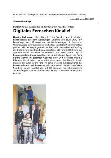 Digitales Fernsehen für alle! - Lichtenau e.V.