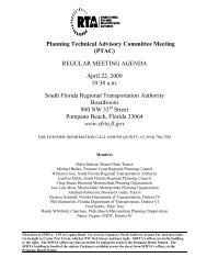 Planning Technical Advisory Committee Meeting - the South Florida ...