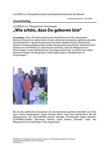 """""""Wie schön, dass Du geboren bist"""" - Lichtenau e.V."""