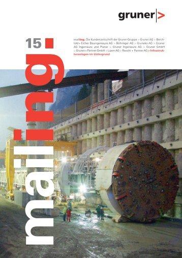 Nr. 15 - Infrastrukturanlagen im Untergrund ... - Gruner AG