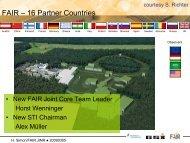 FAIR – 16 Partner Countries - JINR