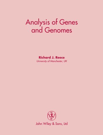 Analysis of genes & genomes.pdf
