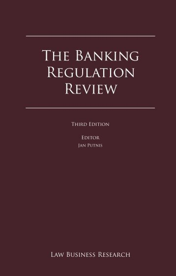 The Banking Regulation Review - Russell McVeagh