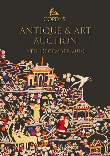ANTIQUE & ART AUCTION - Cordys