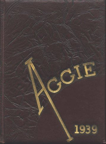 Aggie 1939 - Yearbook