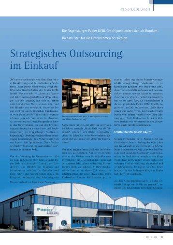 Strategisches Outsourcing im Einkauf - IHK Regensburg