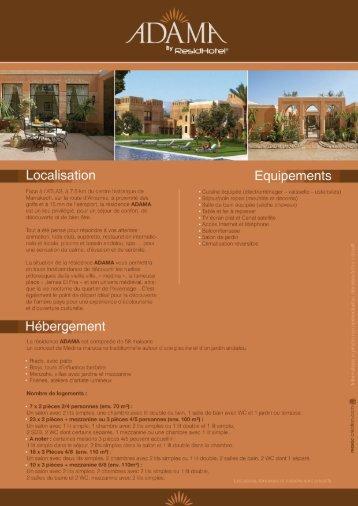 télécharger la fiche produit ADAMA - Residhotel Marrakech
