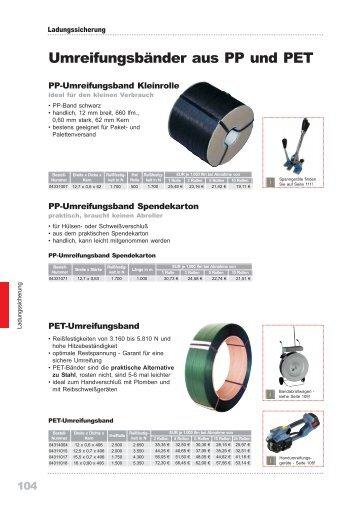 Umreifungsbänder aus PP und PET