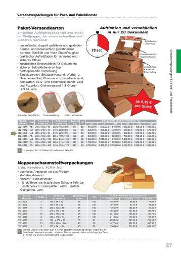 Paket-Versandkarton ... - Papier LIEBL