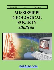 April 2008 - Mississippi Geological Society