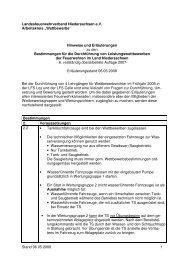 Hinweise und Erläuterungen zu den - Landesfeuerwehrverband ...