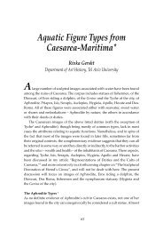 Aquatic Figure Types from Caesarea-Maritima* Rivka Gersht