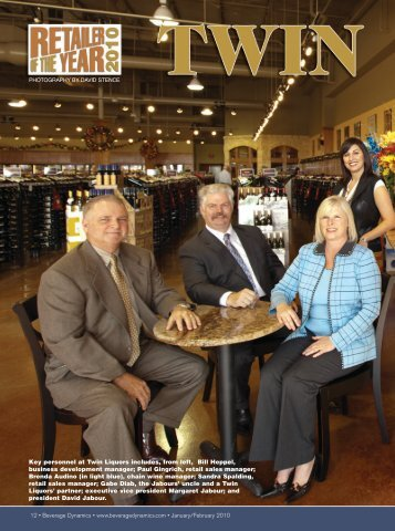 In March, David Jabour stepped up to a - Twin Liquors
