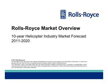 2011 Helicopter Market Forecast - Rolls-Royce