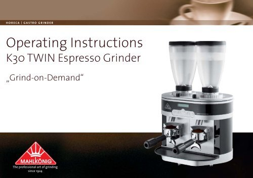 K30 TWIN Espresso Grinder - 1st-Line