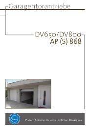 DV650/DV800 Garagentorantriebe AP (S) 868 - Gueller.ch
