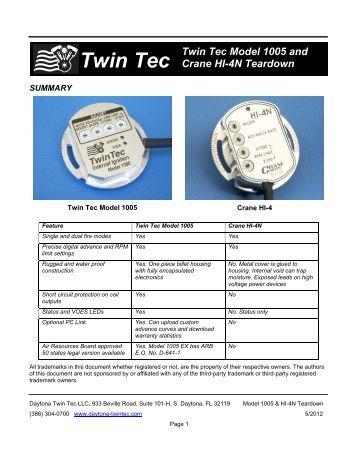 Model And Crane Hi N Teardown Report Daytona Twin Tec on Tech Tc88a
