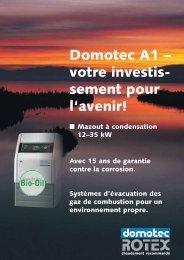 Domotec A1 – votre investis- sement pour l'avenir! - Domotec AG
