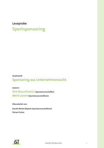 Sportsponsoring - IST-Studieninstitut