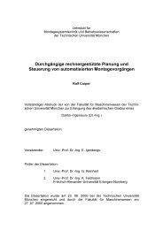 Durchgängige rechnergestützte Planung und Steuerung von ... - iwb