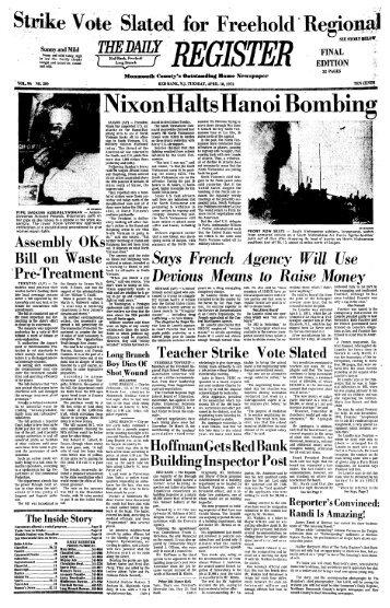 XixonHalts Hanoi Bombing - Red Bank Register Archive