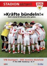 Die offizielle Stadionzeitung des VfB Stuttgart 1893 e.V. • Spielzeit ...