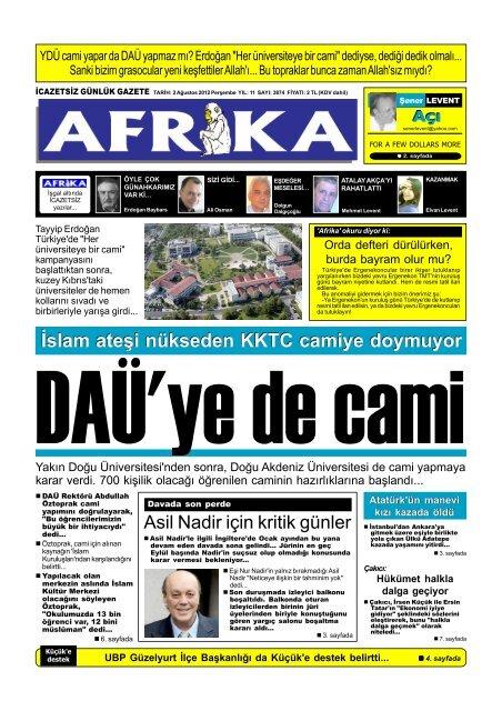 2 Agustos 2012 P65 Afrika Gazetesi