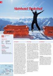 Katalogseite Aktivhotel Tirolerhof - Winter 2011 - 12 - Aktives Reisen
