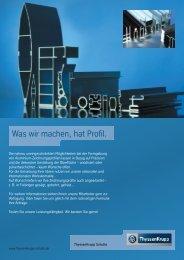 Was wir machen hat Profil - Aluminium (ca. 1MB - Jacob Bek