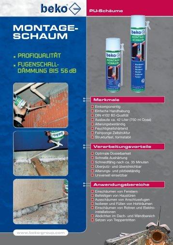montageschaum info.qxp - Jacob GmbH