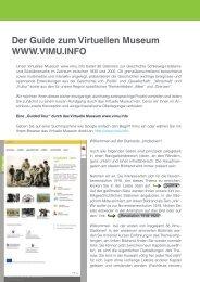 Der Guide zum Virtuellen Museum WWW.VIMU.INFO