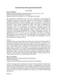 Kommentiertes Vorlesungsverzeichnis der UFG