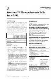 Scotchcal™ Fluoreszierende Folie Serie 3480 - 3M