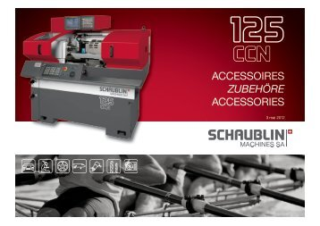 Table of contents - Schaublin Machines SA