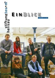 Einblick 03/2010 - Stiftung Tosam