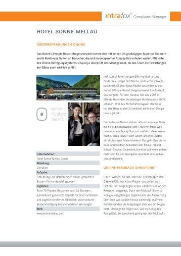 Sonne Lifestyle Resort Bregenzerwald (PDF 93 KB) - Inworks GmbH