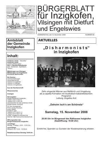 Samstag, 15. November 2008 - Inzigkofen