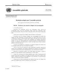 A/RES/58/150 - Assistance aux mineurs réfugiés non  accompagnés