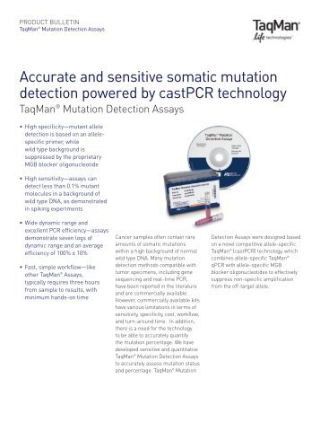 Accurate and sensitive somatic mutation detection ... - Invitrogen