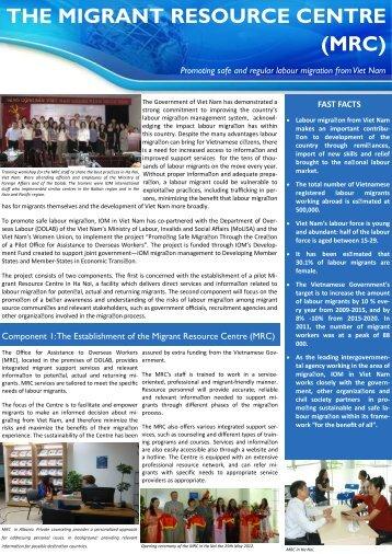 Info Sheet MRC - International Organization for Migration