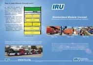 Standardised Modular Concept - IRU