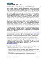 "AMTRAK ASDP 2011 / 2015 Contract 213 –€"" New York and Vermont ..."