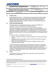 Anti-Corruption Policy - Jacobs Engineering
